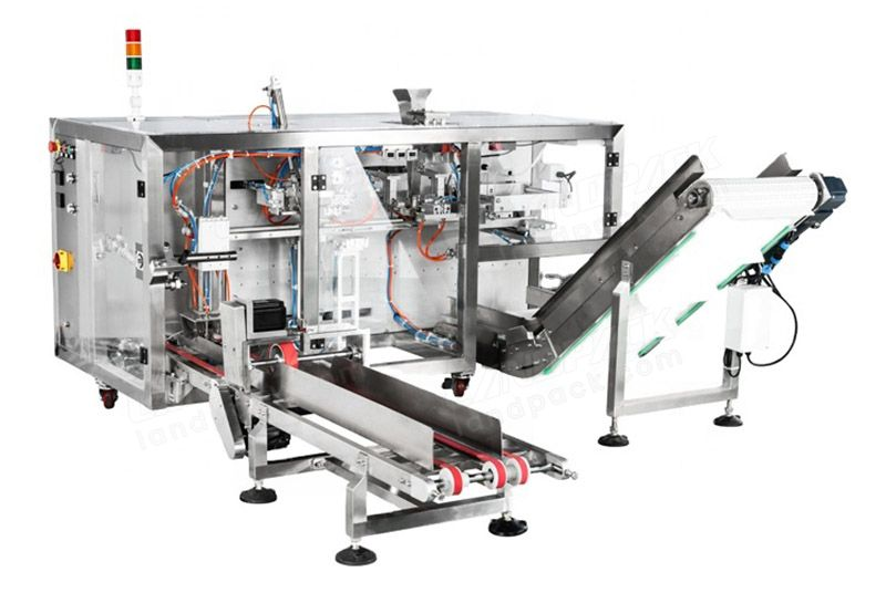 Horizontal 4 Station Mini Doypack Premade Pouch Packaging Machinery