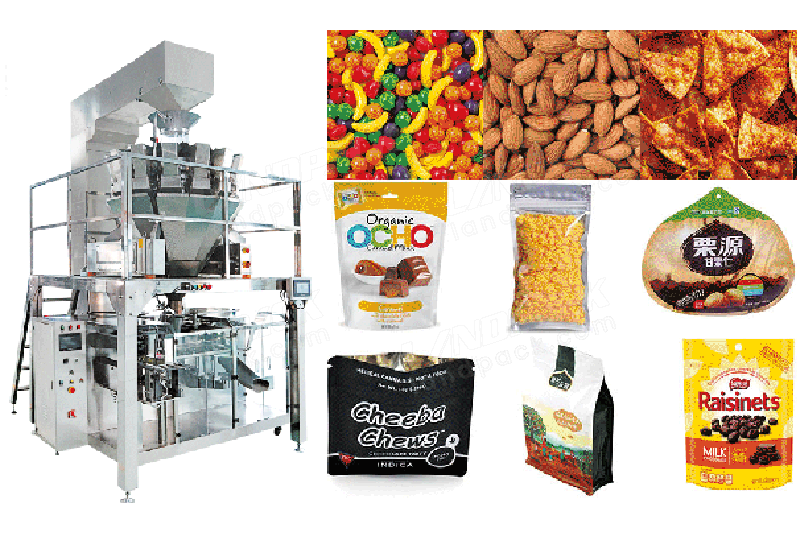 Horizontal Premade Pouch Granule Packing Machine with Multihead Weigher