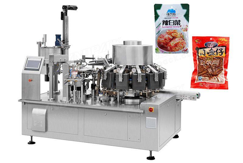 Multifunction Snack Foods Vacuum Rotary Packing Machine