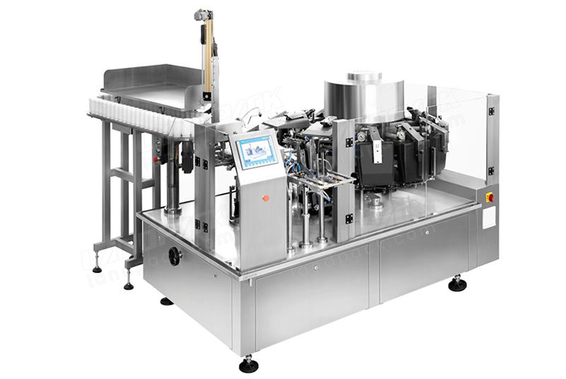 High Efficiency Vacuum Food Premade Pouch Packing Machine