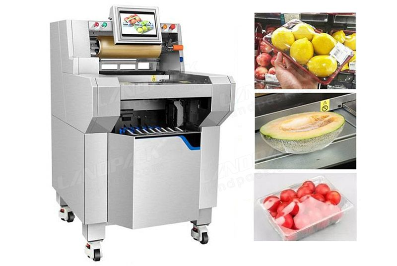 Automatic Vegetable/ Meat/ Fruit Stretch Cling Preservation Film Packing Machine