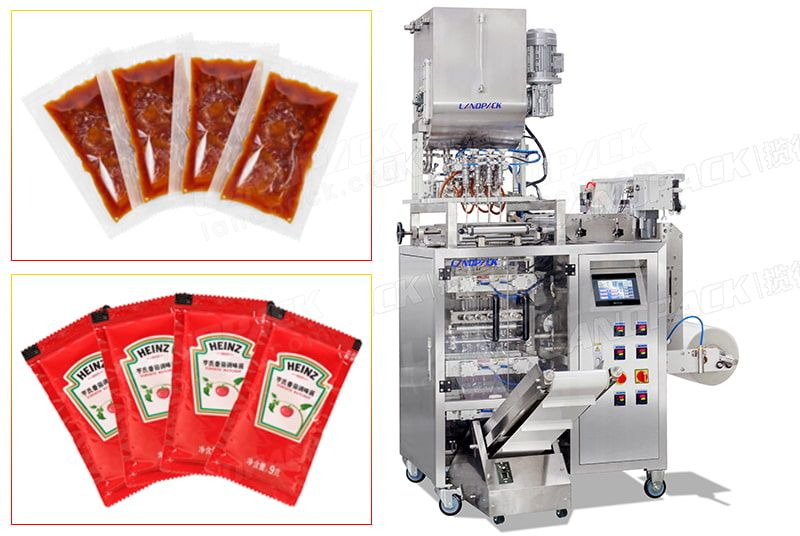 Automatic 4 Lane Packing Machine For Liquid Products Containing Fine Particles