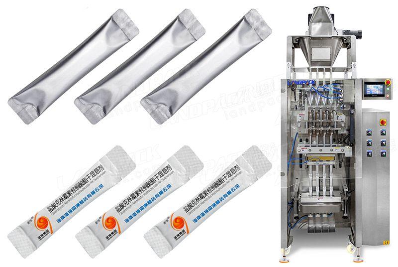 Multi Lane Powder Stick Packing Machine With Round Cutting Device