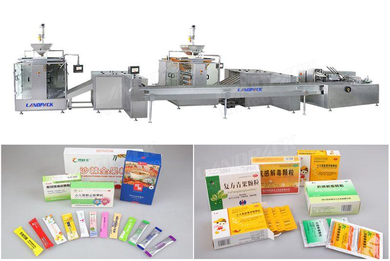 High Speed Multilane Bagging And Cartoning Packaging System