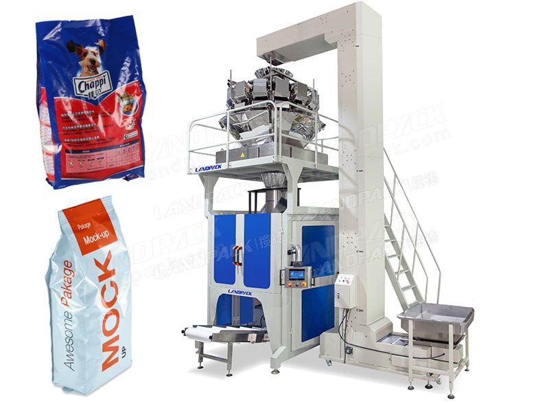 Automatic 5-15kg Pet Food Multihead Weigher Packing Machine