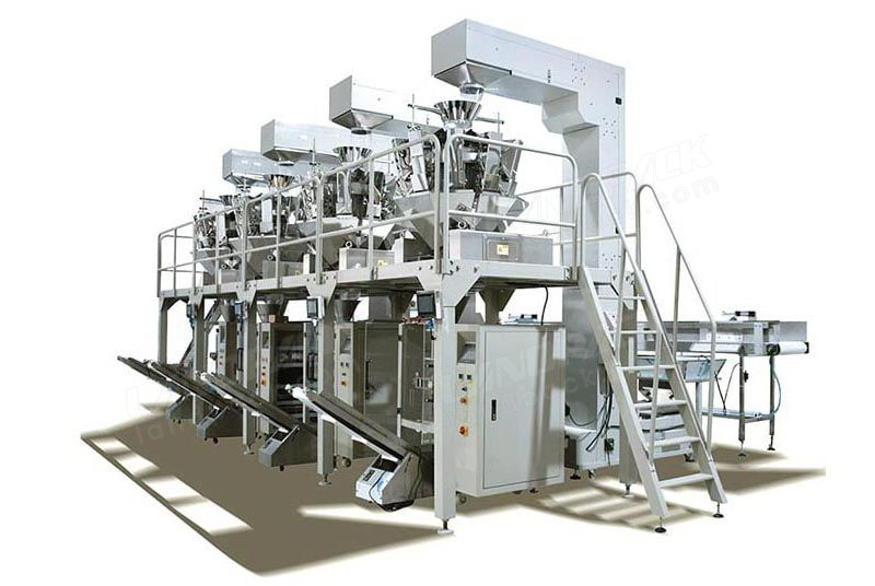 High Speed Pet Food Pouch Weighing And Packing System