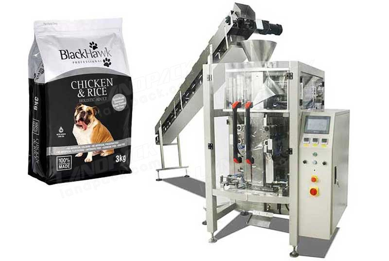 Automatic Pet Food Quad Seal Bag/ Block Bottom Pouch Packing Machine