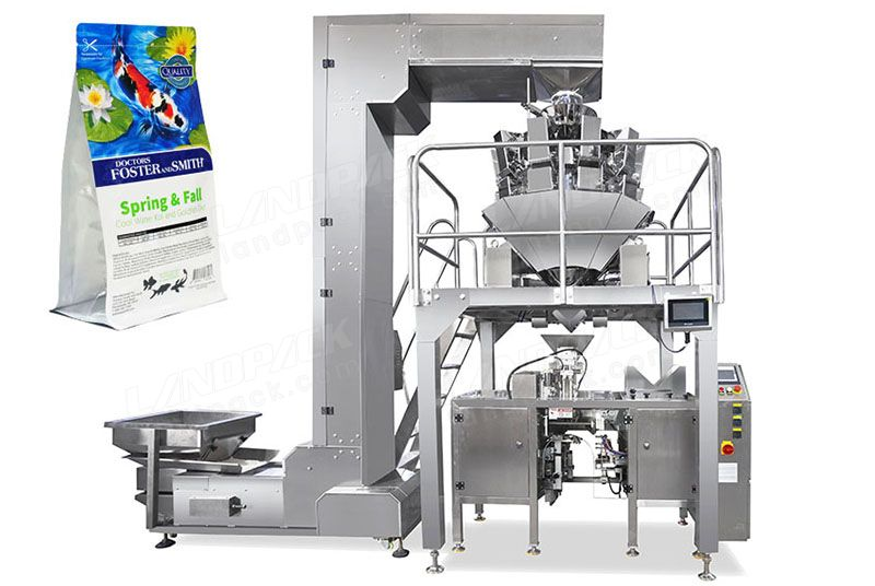 Automatic Granular/ Pet Food Mini Doypack Machine With Multihead Weigher