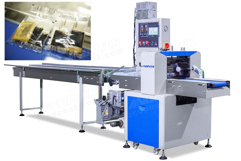 Back Stretch Film Flow Packing Machine For Wet And Sticky Noodles.