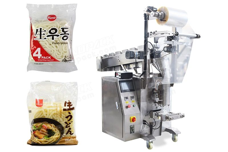 Semi-automatic small packet rice noodle packaging machine