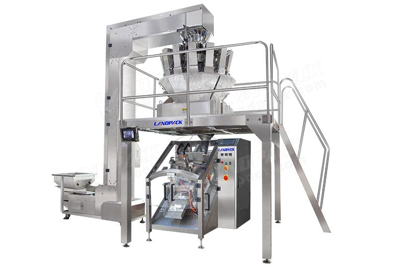 Inclined Type Vertical Form Fill Seal Machine For Heavier Product Packing