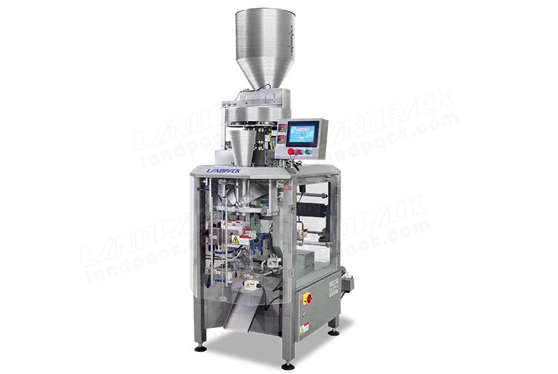 High Speed Vertical Form Fill Seal Machine With Measuring Cups Equipment