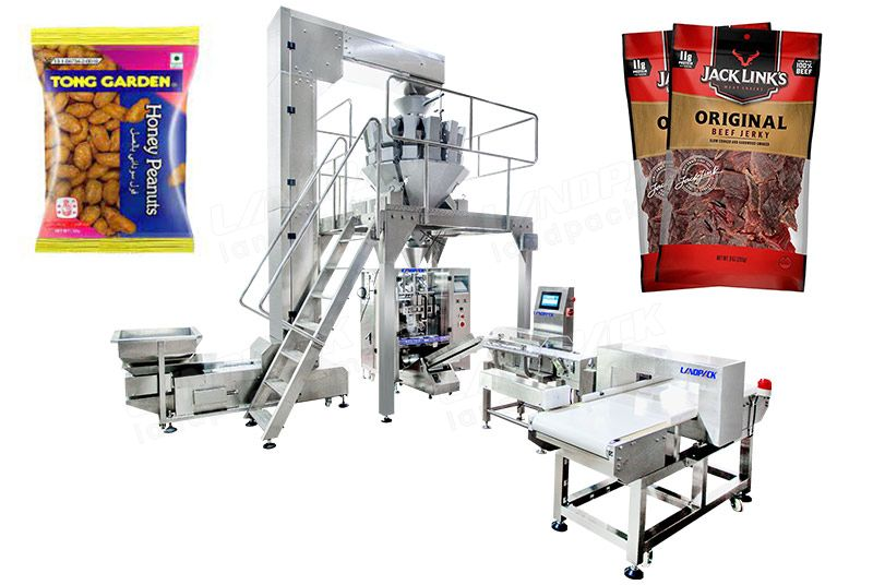 Automatic Dry Fruit Packing Machine With Metal Detector And Weight Sorting Scale