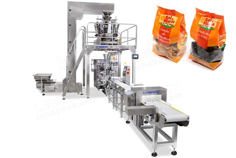 Dry Fruit Packing Machine With Labeling Machine Metal Detector And Weight Selection Scale