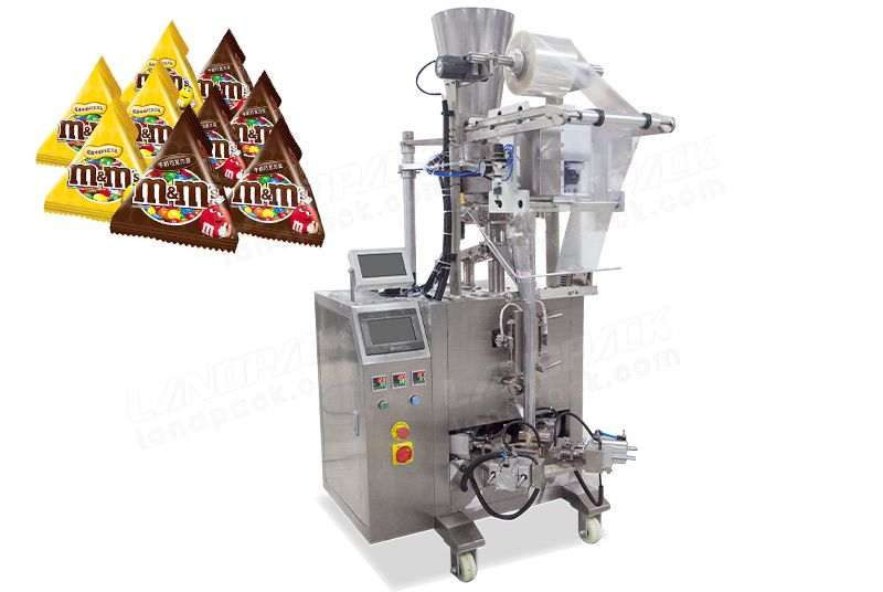 Automatic Triangle Bag/ Pyramid Bag Packing Machine For Beans Snacks Etc