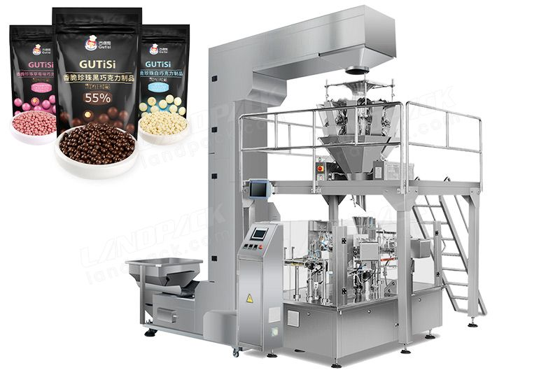 Automatic Chocolate Beans Doypack Packaging Machine