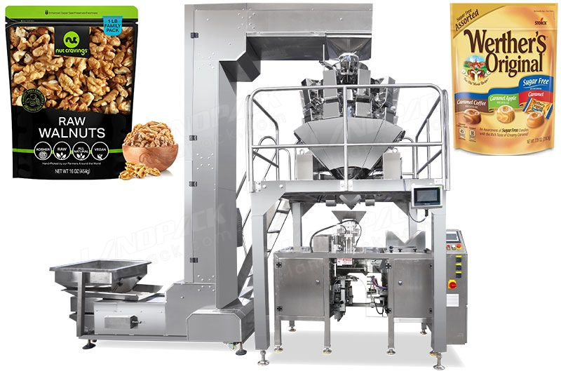 Mini Doypack Machine For Candy, Premade Pouch Packing Machine