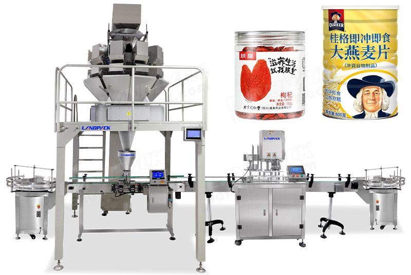 Automatic Candy Bottles Weighing and Filling Machine