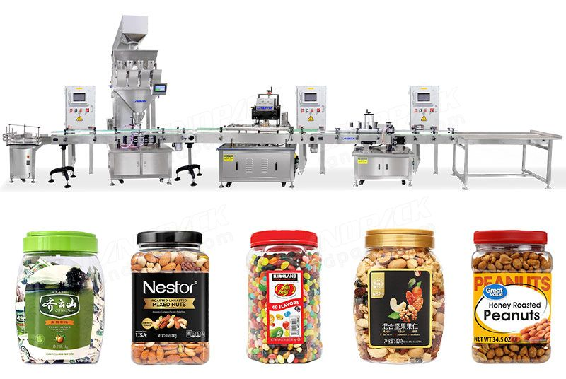 Automatic Candy Weighing Filling Capping and Labeling Line