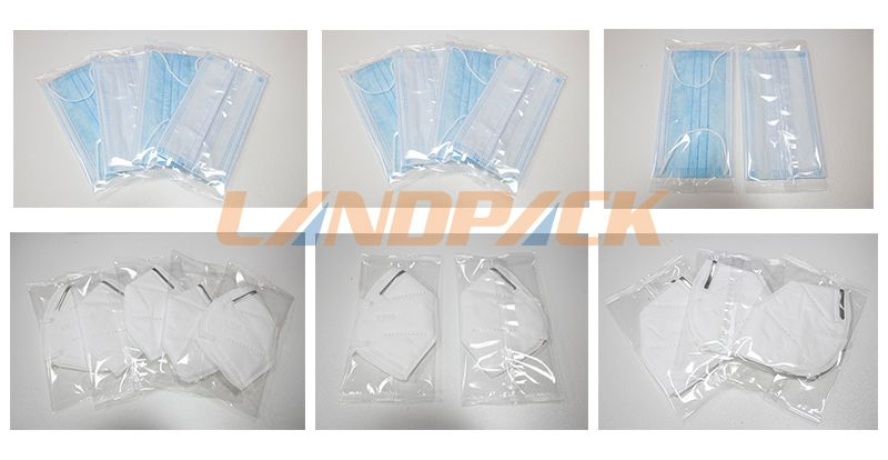 Exhaust Air Mask Packing Machine For Disposable Medical Mask And N95 Mask