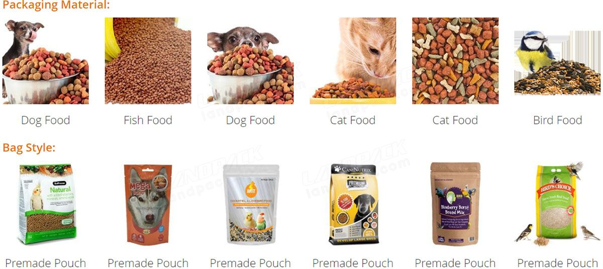 Automatic Premade Pouch Packing Machine For Pet Food/ Dog Food/ Cat Food/ Fish Food/ Bird Food